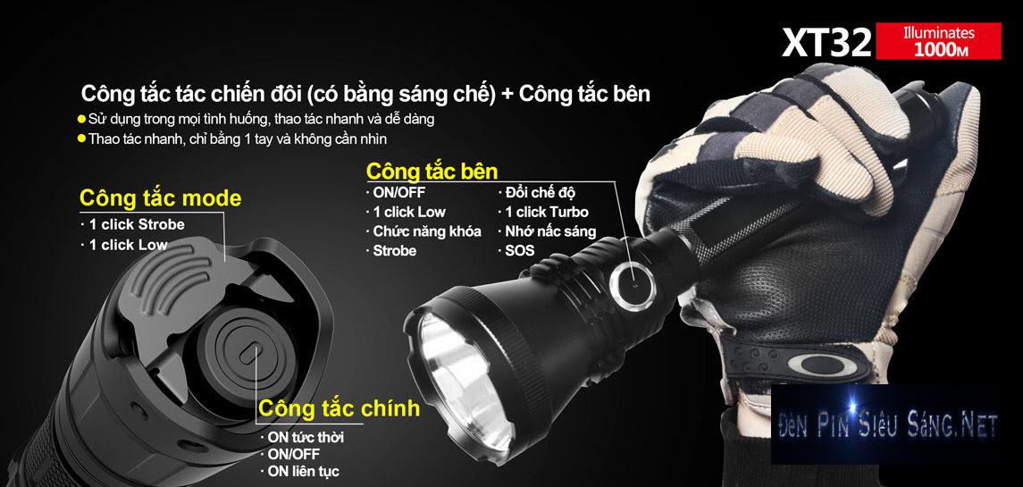 Đèn Pin Chiếu Xa 1000M KLARUS XT32