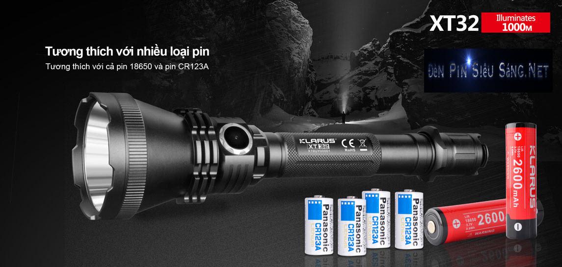 Đèn Pin Tác Chiến Chiếu Xa 1000M KLARUS XT32