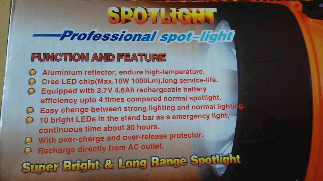 Đèn sạc siêu sáng Wasing WSL-827 10W-1000 Lumen